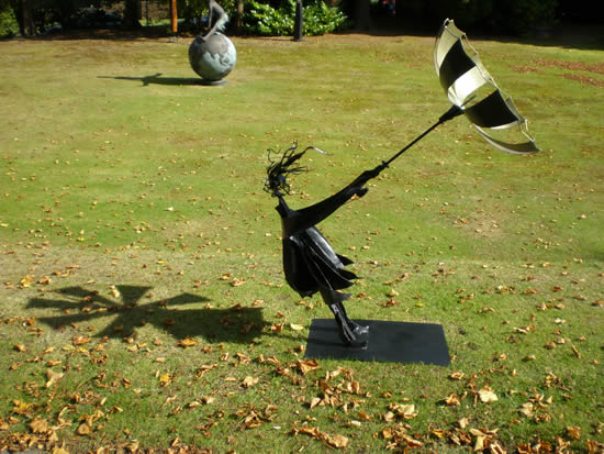 The Wind and a Girl with Umbrella - Zeljko Ivankovic (Jericho) - Sculptor and Artist - Surrey Sculpture Society