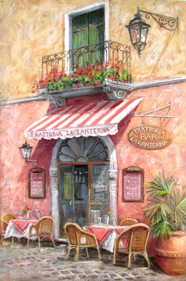 Trattoria La Laterna - Malcolm Surridge - Artist - Landscape Paintings - Surrey Artists Gallery