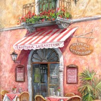 Trattoria La Laterna – Malcolm Surridge – Artist – Landscape Paintings – Surrey Artists Gallery