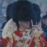 Trooping the Colour – Bandsmen – Mark Dorsett – Watercolour and Oil Paintings – Littleton Artists Group