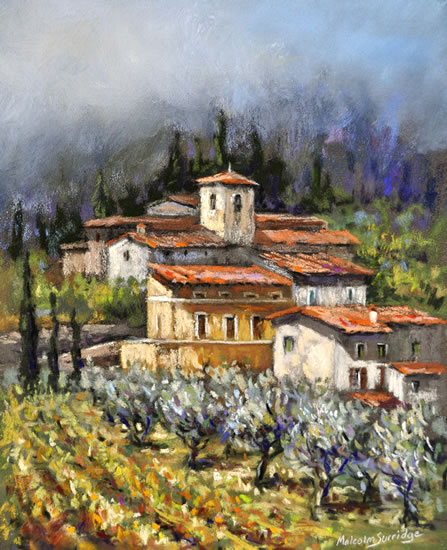 Tuscan Bliss - France - Malcolm Surridge - Artist - Landscape Painting in Pastels - Surrey Artists Gallery