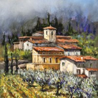 Tuscan Bliss – France – Malcolm Surridge – Artist – Landscape Painting in Pastels – Surrey Artists Gallery
