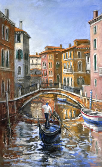 Venice - Canal - Reflections - Italy - Malcolm Surridge - Artist - Landscape Paintings - Surrey Artists Gallery