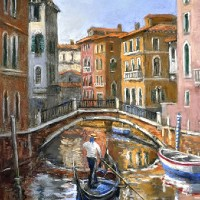 Venice – Canal – Reflections – Italy – Malcolm Surridge – Artist – Landscape Paintings – Surrey Artists Gallery