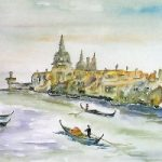 Venice – Grand Canal – Surrey Artist Terence J. Kitson – Paintings in Watercolour and Oil – Byfleet Art Group