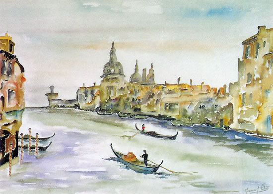 Venice - Grand Canal - Surrey Artist Terence J. Kitson - Paintings in Watercolour and Oil - Byfleet Art Group