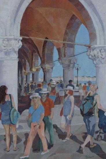 Venice, Italy Scene - Mark Dorsett - Watercolour and Oil Paintings - Littleton Artists Group