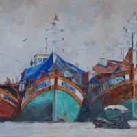 Vietnam – Mekong Delta Boats – Mark Dorsett – Watercolour and Oil Paintings – Littleton Artists Group