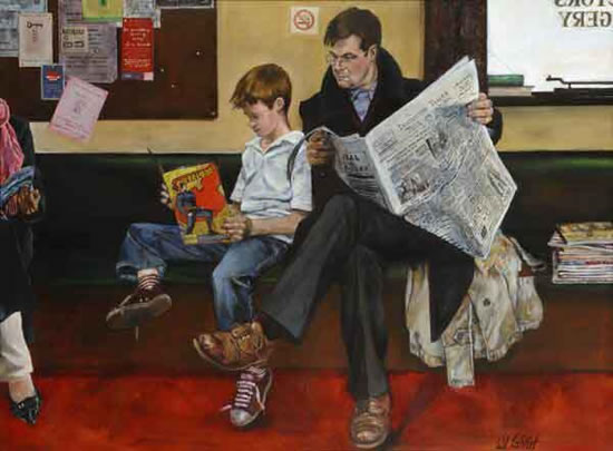 Waiting Room - Sussex Artist - William E. Rochfort - Fine Art Oil Paintings and Limited Edition Fine Art Prints