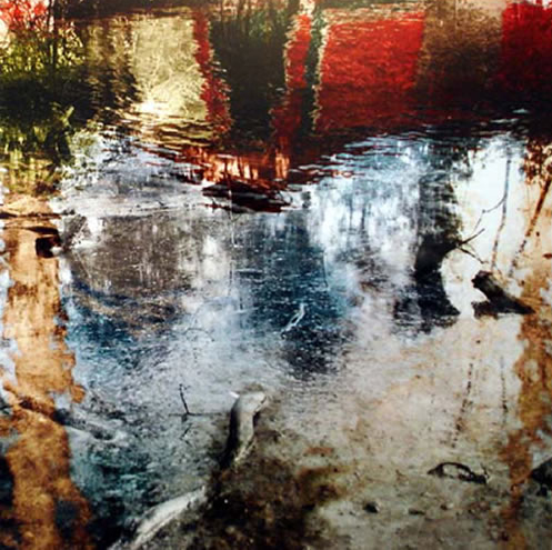 Water with Red Boat I - Surrey Art Gallery - Christiane Zschommler - Fine Art Photography