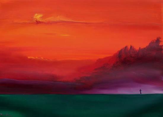 Watercolour - Arizona Sky - Surrey Artist Alan Brain - Paintings in Watercolour and Acrylic - Farnham Art Society