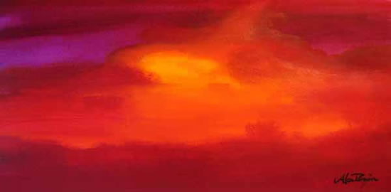 Watercolour - Sunset - Africa - Surrey Artist Alan Brain - Paintings in Watercolour and Acrylic and Art Teacher - Farnham Art Society