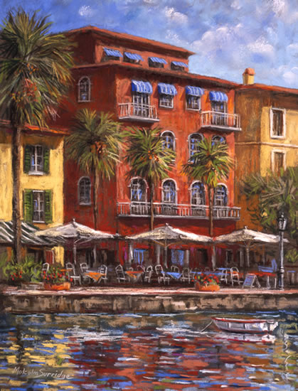 Waterfront Restaurants - Malcolm Surridge - Artist - Landscape Paintings - Surrey Artists Gallery