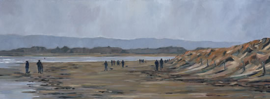 West Wittering Beach - Sussex - Mark Dorsett - Watercolour and Oil Paintings - Littleton Artists Group