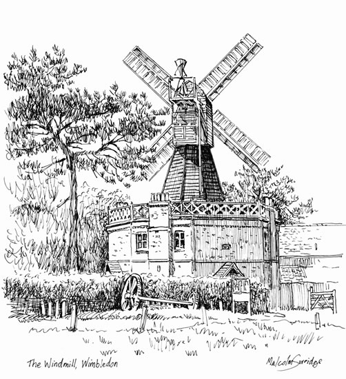 Wimbledon Windmill - London - Malcolm Surridge - Artist - Landscape Paintings - Surrey Artists Gallery