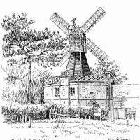 Wimbledon Windmill – London – Malcolm Surridge – Artist – Landscape Paintings – Surrey Artists Gallery