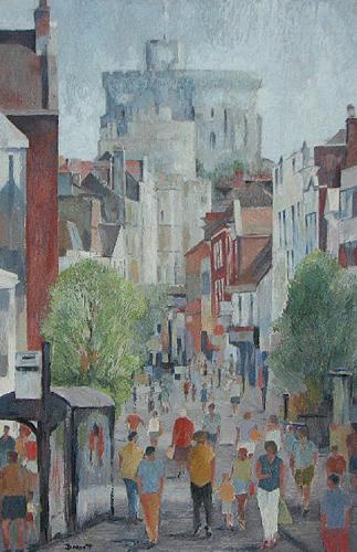 Windsor Castle View - British Royalty - Mark Dorsett - Watercolour and Oil Paintings - Littleton Artists Group
