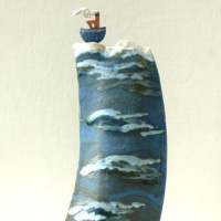 Contemporary Ceramics and Pottery – Artist Terri Smart – High Seas Jaunty Tug – Coast Art Gallery