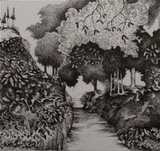Holloway, Abinger, Surrey - Farnham Art Society Gallery