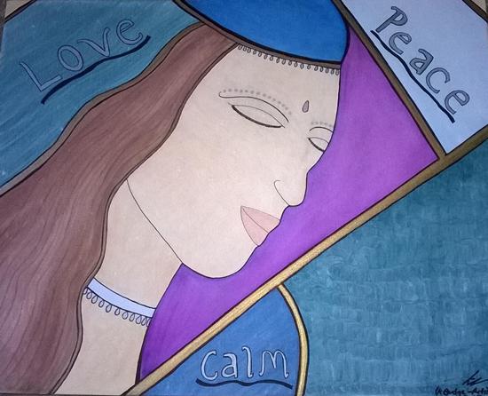 Love, Peace, Calm Painting - Karen Marie Budge Farnborough Hampshire Artist