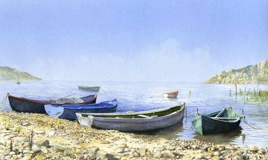Mediterranean Fishing Boats - Art Gallery - Woking Artist David Drury - Fine Art Prints