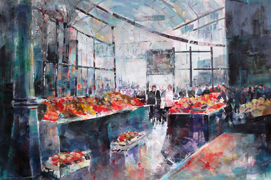 Borough Market Painting London Art Gallery - Art Prints and Gifts
