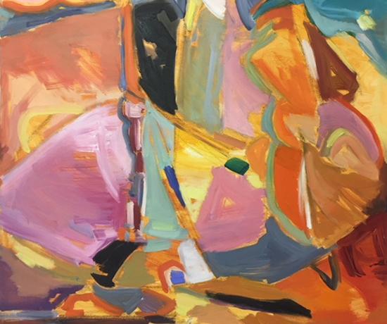 Abstract Landscape Oil Painting - Weybridge Art Society - Hildegarde Reid