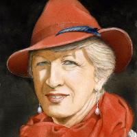 Anne Wearing an Orange Hat – Portrait by Noël Haring