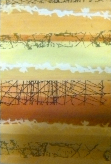 Barbed Wire - Art for sale - Surrey Artist Karen Marie Budge