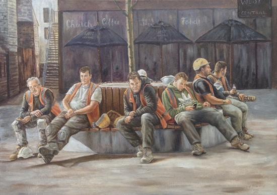 Break Time - Lightbox Art Gallery - Woking Society of Arts Exhibition