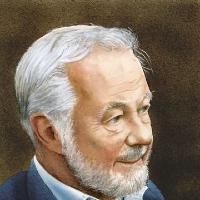 Surrey Artist Noël Haring – Portrait of Bryan Forbes CBE