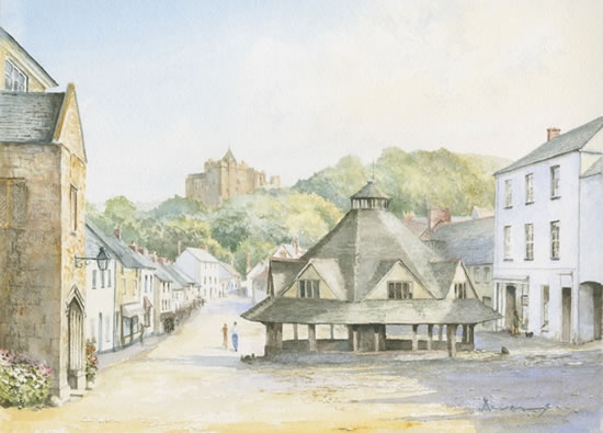 Dunster Village Exmoor - David Drury Surrey Artist