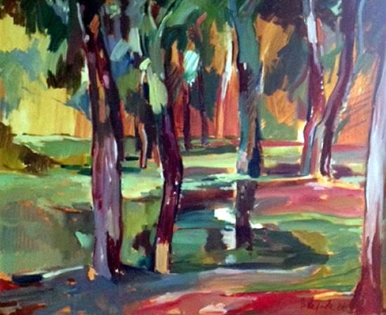 Fauve - Landscape Oil Painting - Chelsea Art Society Member - Hildegarde Reid