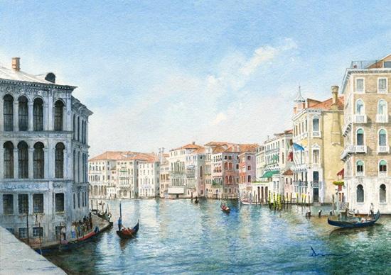 Grand Canal Venice - David Drury Surrey Artist