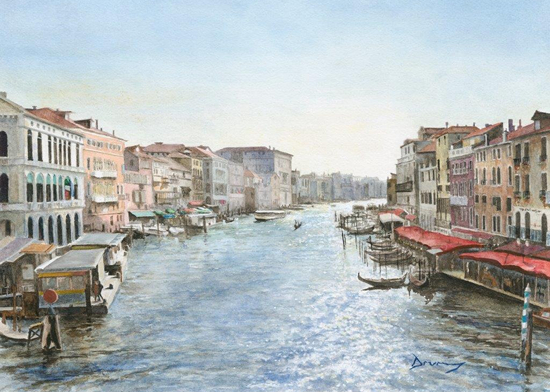 Grand Canal Venice by Surrey Artist David Drury
