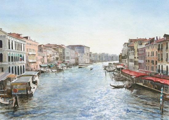 Grand Canal Venice by Surrey Artist David Drury