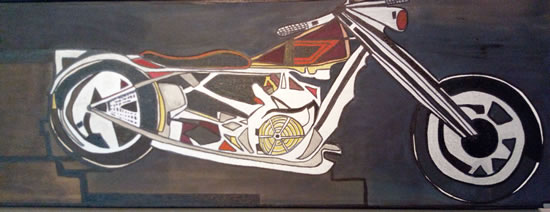 Motorcycle Painting - Abstract Art Gallery