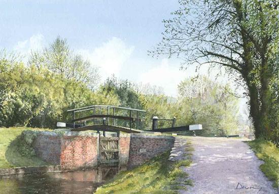 St Johns Lye Lock Basingstoke Canal - David Drury