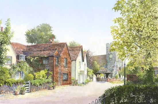 St Peters Church Old Woking - Surrey Art Gallery