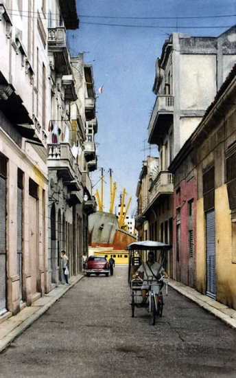 Street in the Havana Dock - Fine Art Prints - Noël Haring