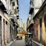 Street in the Havana Dock – Noël Haring – Surrey Art Gallery