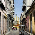 Street in the Havana Dock – Noël Haring – Surrey Art Gallery