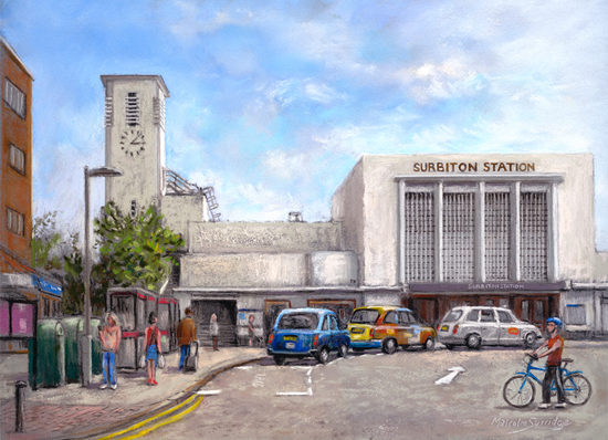 Surbiton Railway Station - Surrey Art Gallery