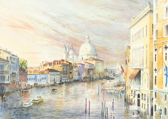 Venetian Sunset Grand Canal Venice - Fine Art Prints