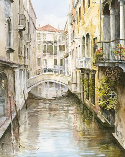 Venice Canal David Drury - Surrey Artist