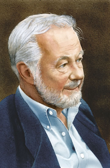Artist Noël Haring Portrait of Bryan Forbes CBE