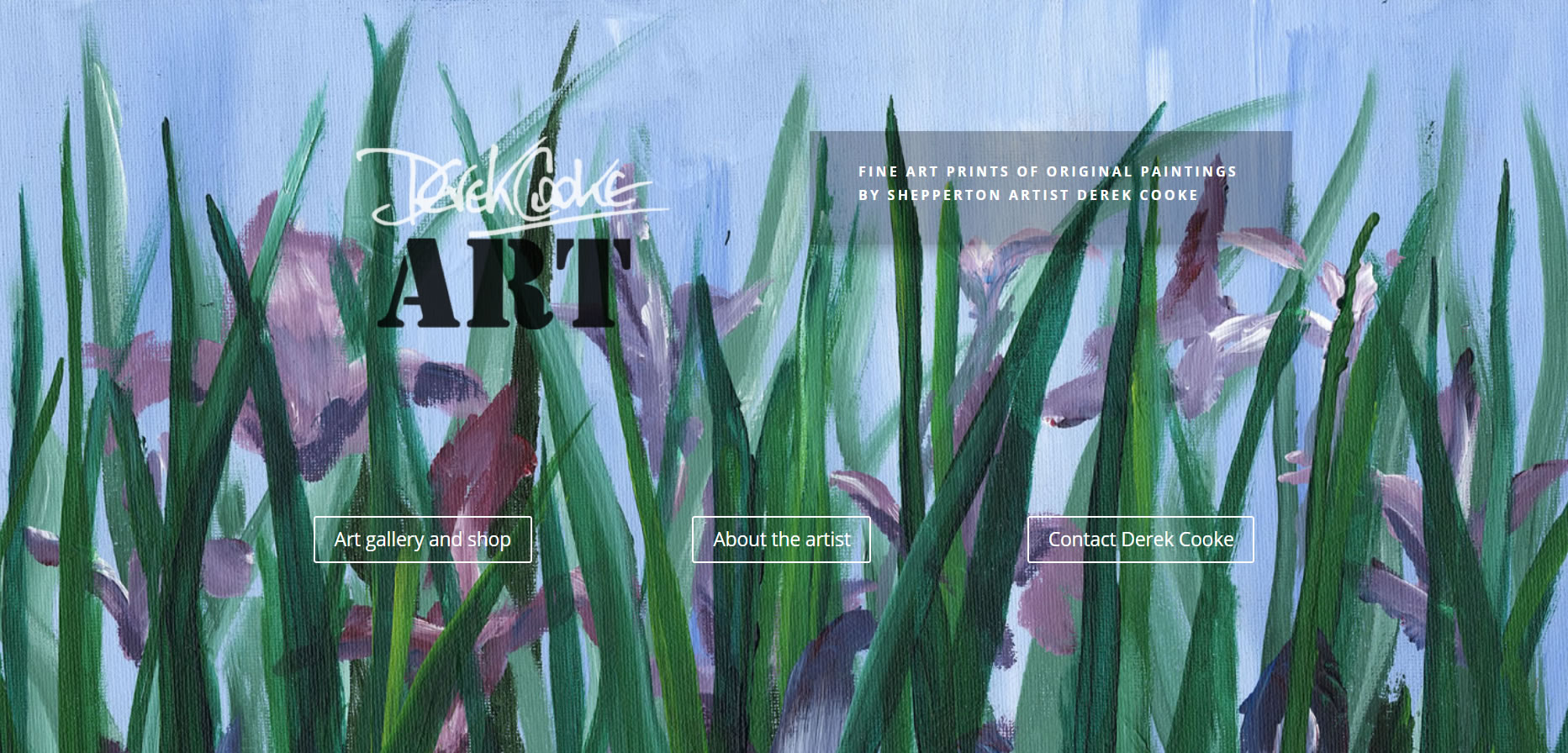 Art website build for Derek Cooke by Surrey Artists