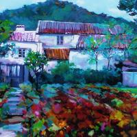 Autumn Vineyard in France – Hildegarde Reid – Chelsea Art Society Artist
