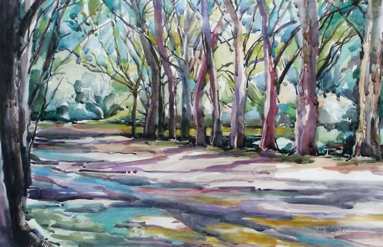 Botanical Gardens - Natal - South Africa - Painting Workshops - Hildegarde Reid