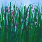 Fine Art Prints For Sale – Purple Irises – Shepperton Middlesex Artist Derek Cooke